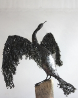 <h5>Cormorant 1</h5><p>Sea Weed and Wire Size 80cm</p>