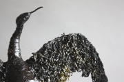 <h5>Cormorant detail 1</h5><p>Sea Weed and Wire Size 80cm</p>
