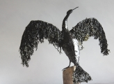 <h5>Cormorant 2</h5><p>Sea Weed and Wire Size 80cm</p>