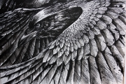 <h5>We Three Detail</h5><p>Pen and ink</p>