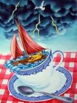 <h5>Storm in a Teacup</h5><p>Water Colour</p>